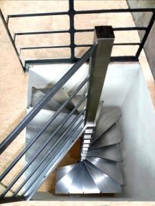 escalier helicoidale steel up. 2